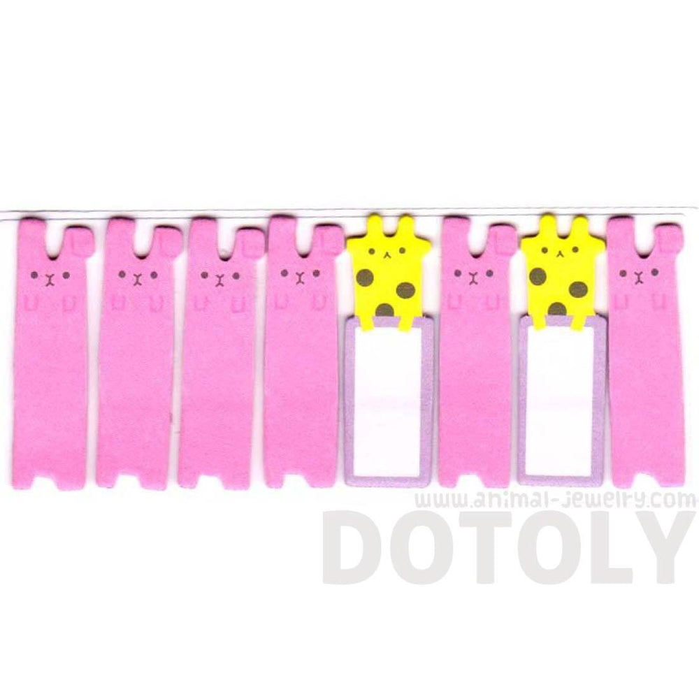 Giraffe and Bunnies Shaped Pacopipi Memo Pad Post-it Index Tabs | Animal Themed Stationery | DOTOLY