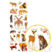 Giraffe Squirrel Flamingo Elephant Shaped Mixed Animal Photo Stickers