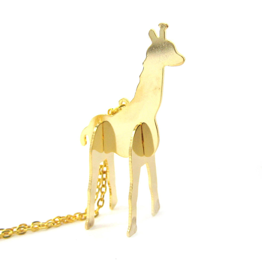 Giraffe Shaped Animal Puzzle Jigsaw Pendant Necklace in Gold | Limited Edition | DOTOLY