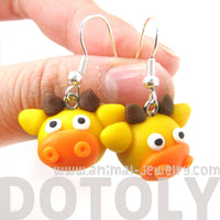 Giraffe Shaped Animal Themed Polymer Clay Dangle Earrings | DOTOLY | DOTOLY