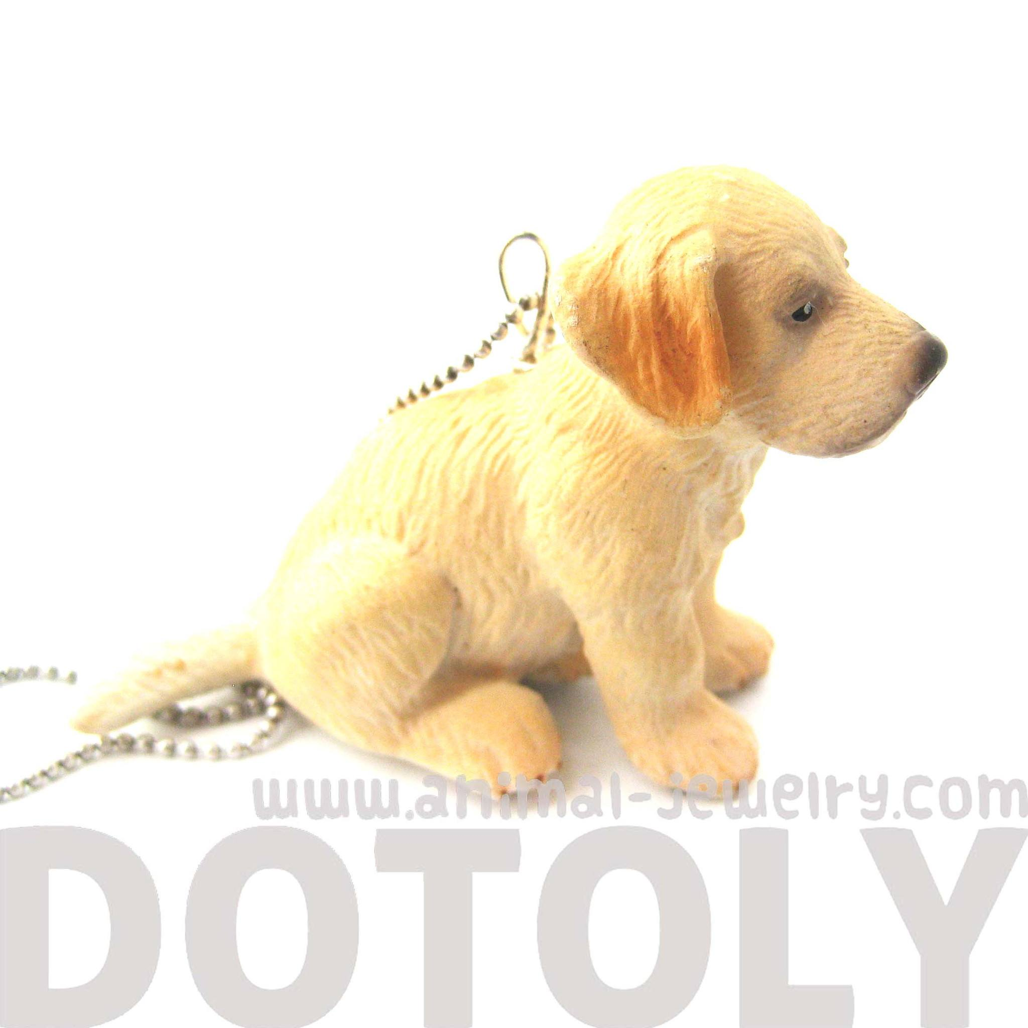 golden-retreiver-baby-puppy-dog-animal-plastic-pendant-necklace-animal-jewelry