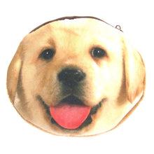 Golden Retriever Puppy Dog Face Shaped Fabric Coin Purse Make Up Bag
