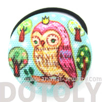 hand-drawn-owl-on-a-branch-animal-button-hair-tie-pony-tail-holderhand-drawn-owl-on-a-branch-animal-button-hair-tie-pony-tail-holder