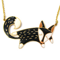 handmade-adorable-fox-wolf-shaped-animal-pendant-necklace-limited-edition