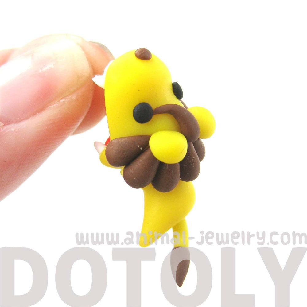 handmade-adorable-lion-biting-your-ear-animal-polymer-clay-stud-earring