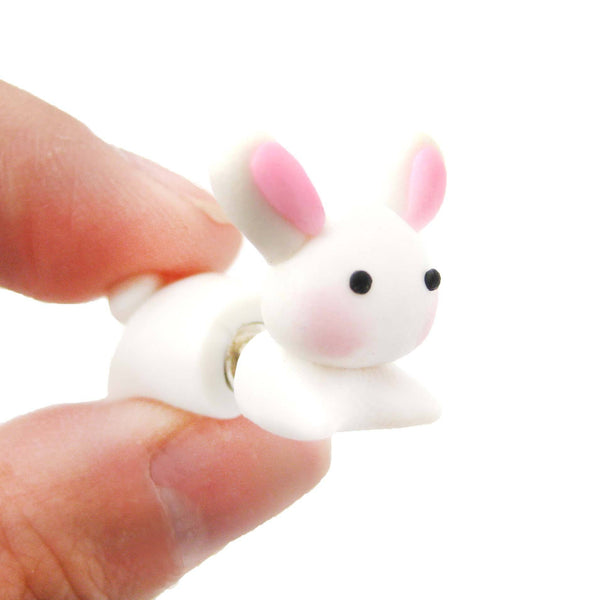 handmade-bunny-rabbit-animal-fake-gauge-clay-stud-earring-dotoly