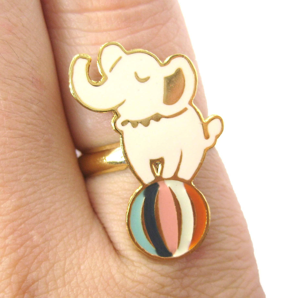 handmade-elephant-circus-animal-themed-adjustable-ring-limited-edition