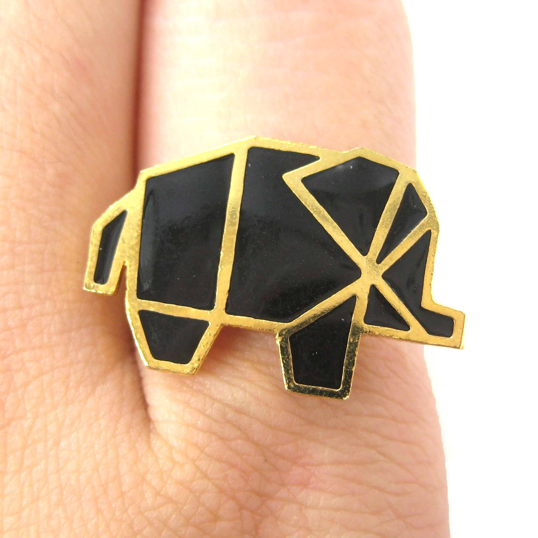 handmade-elephant-origami-shaped-animal-themed-adjustable-ring-limited-edition