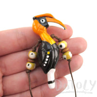 Handmade Great Hornbill Bird Shaped Whistle Pendant Necklace | DOTOLY