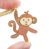 handmade-monkey-shaped-animal-pendant-necklace-limited-edition