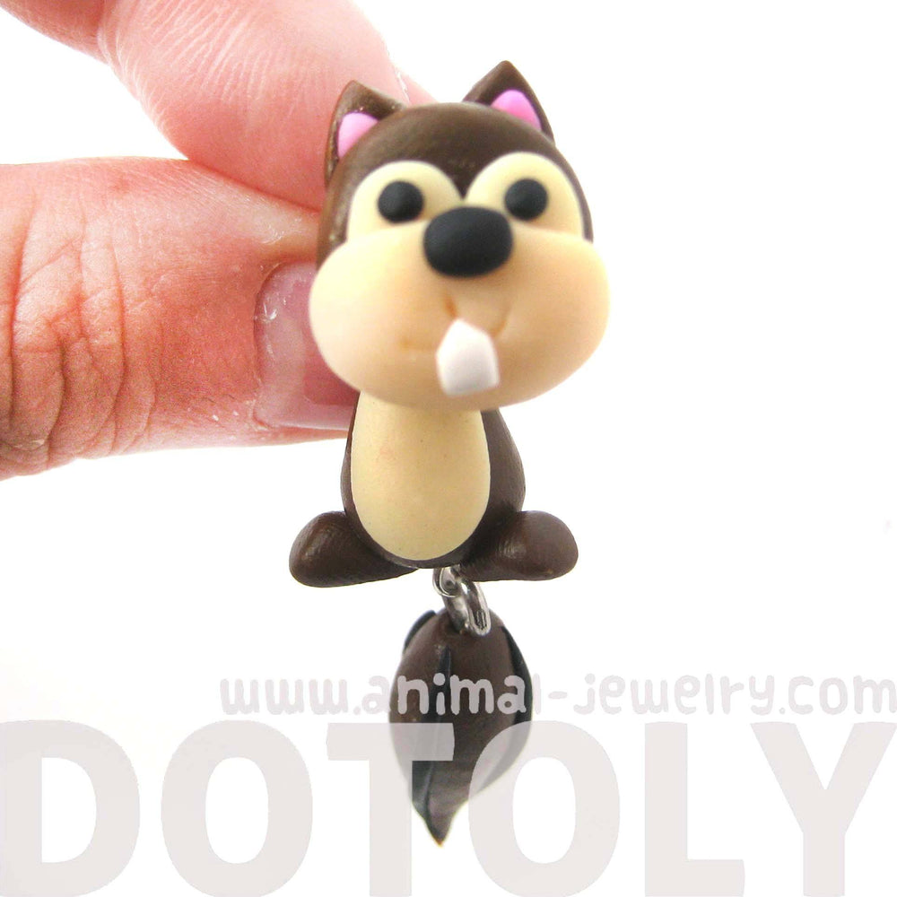 handmade-squirrel-chipmunk-fake-gauge-two-part-polymer-clay-stud-earring