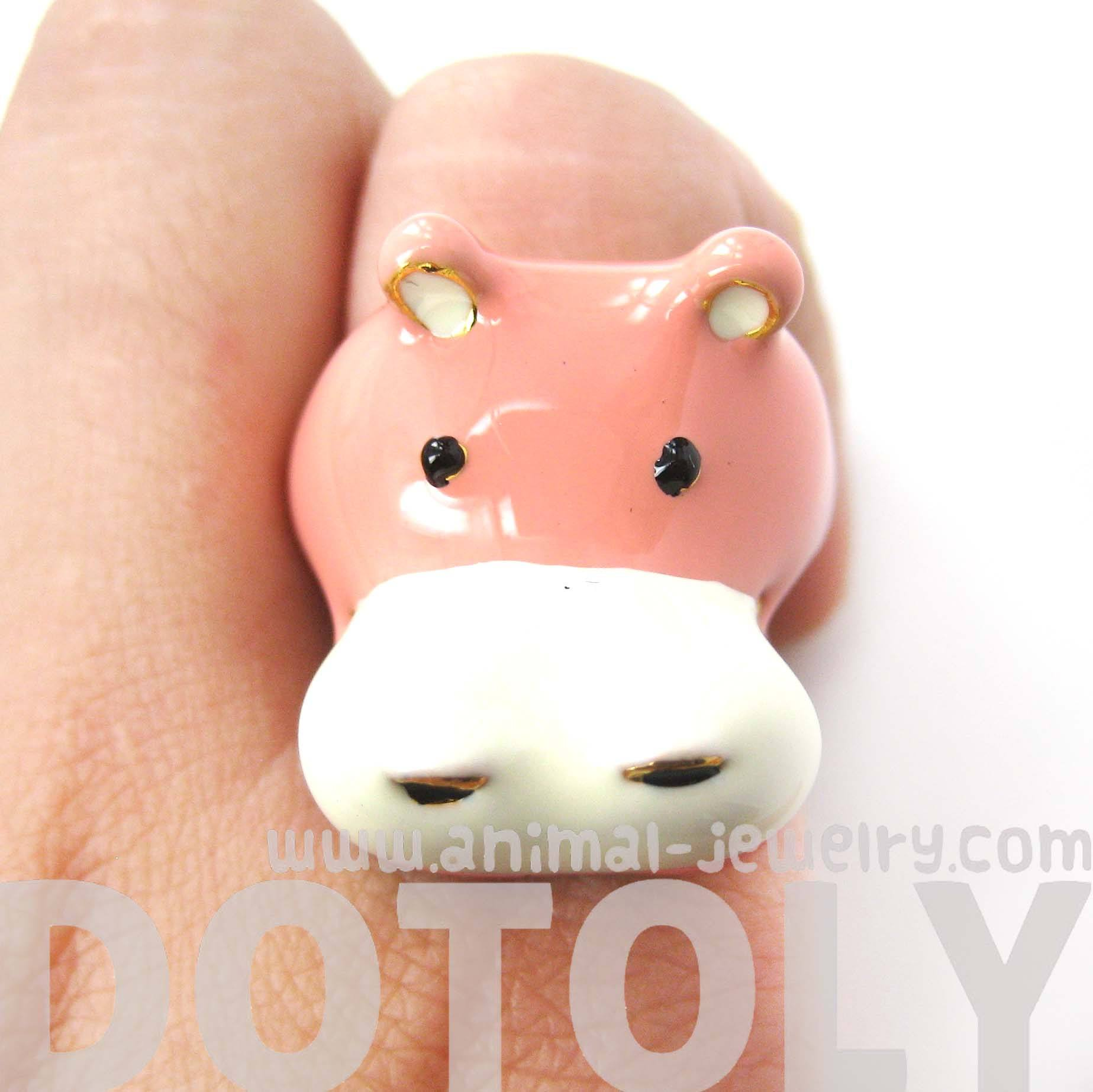 hippopotamus-hippo-shaped-enamel-animal-ring-in-us-size-6-and-7-limited-edition
