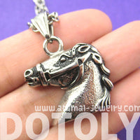 Horse Pony Animal Pendant Necklace in Silver | DOTOLY | DOTOLY