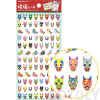 Horse with Colorful Masks Horse Racing Themed Animal Stickers