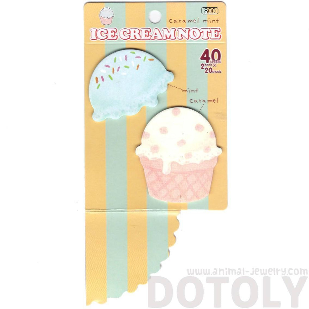Ice Cream Cupcake Food Themed Memo Pad Post-it Sticky Bookmark Notepad