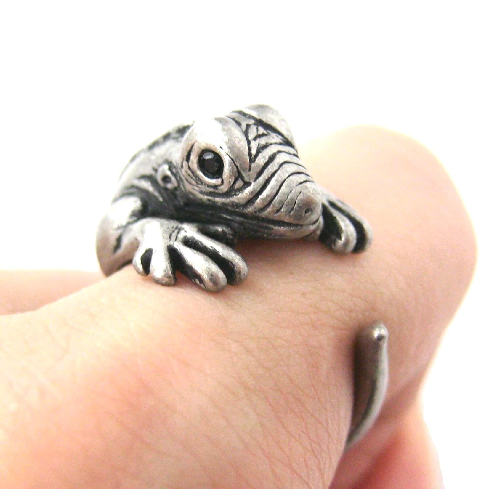 iguana-chameleon-animal-wrap-around-ring-in-silver