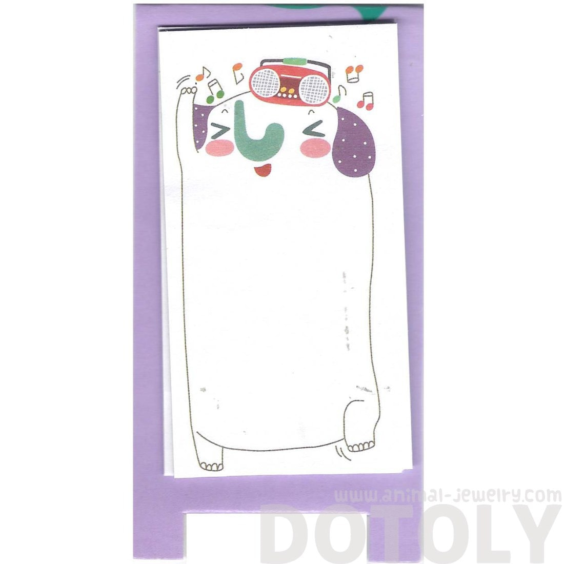 Illustrated Elephant Animal Themed Sticky Memo Post-it Pad | DOTOLY