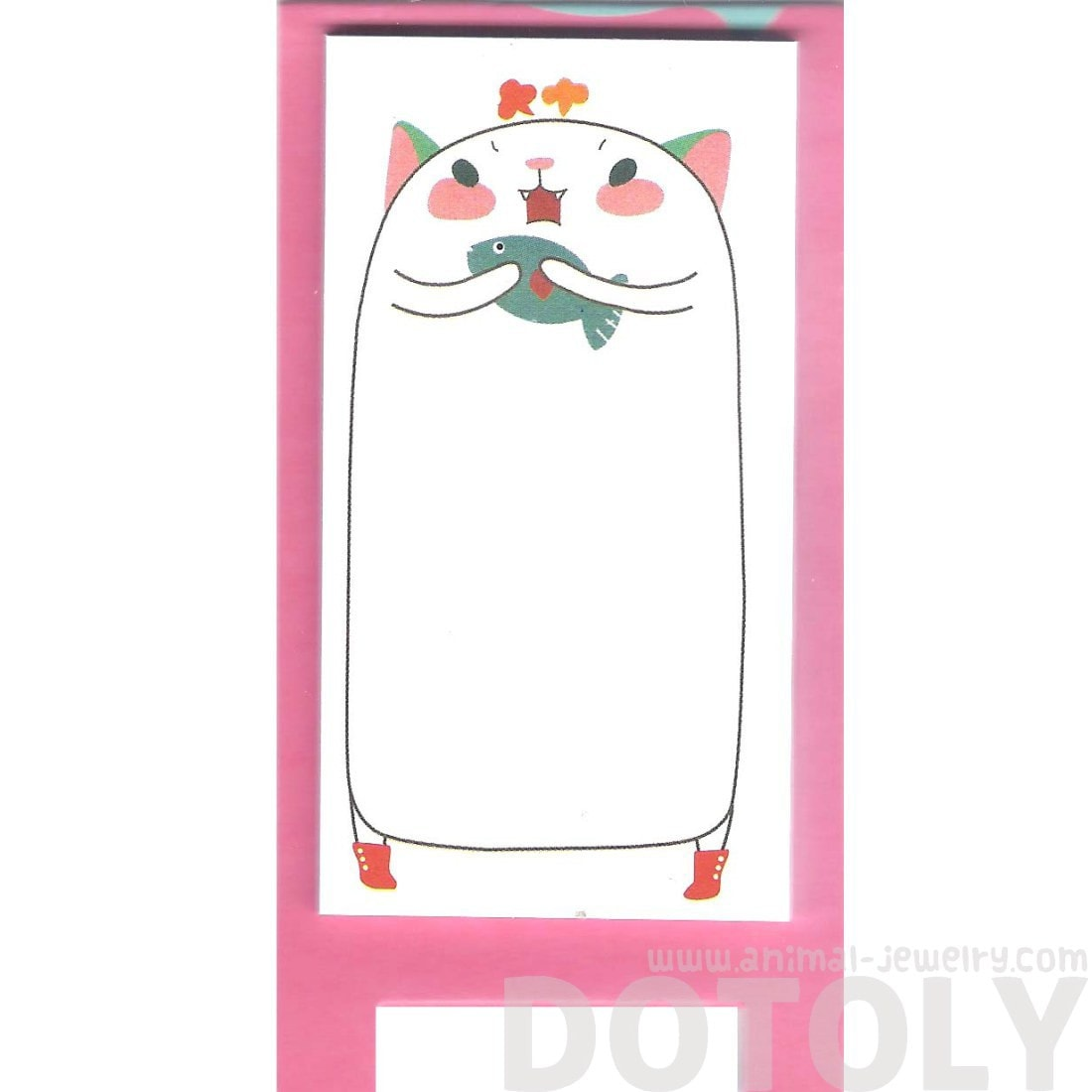 Illustrated Kitty Cat Animal Themed Sticky Memo Post-it Pad | DOTOLY