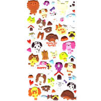 Japanese Kawaii Puppy Dog Illustrated Animal Shaped Puffy Stickers