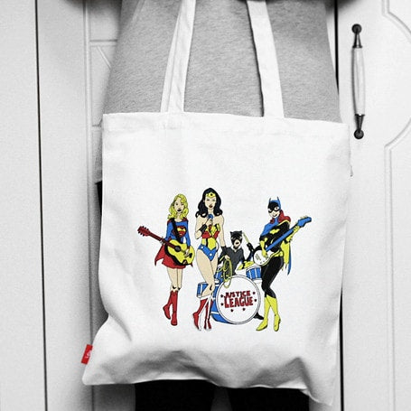 Justice League Band Super Girl Wonder Woman Batgirl Bag