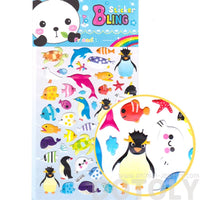 Kawaii Arctic Animal Penguin Fish Turtles Shaped Scrapbook Stickers
