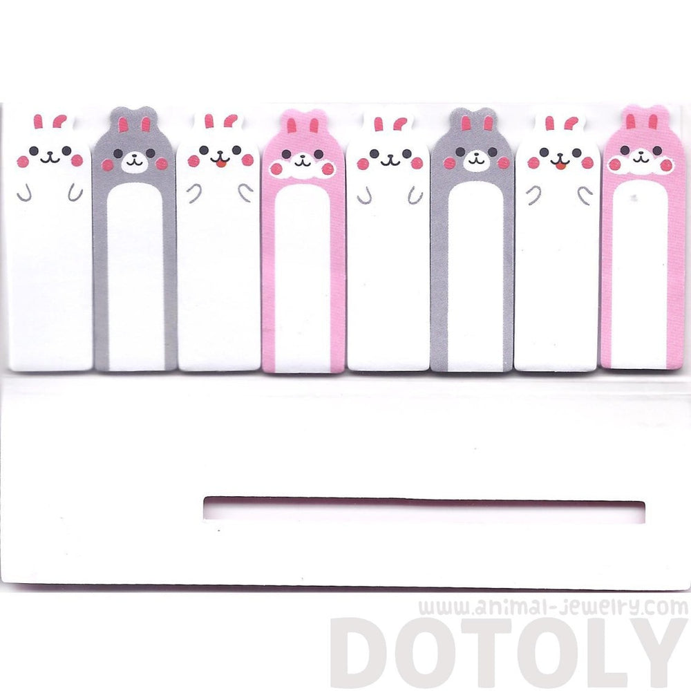 Kawaii Bunny Rabbit Shaped Sticky Memo Post-it Index Bookmark Tabs | Animal Themed Stationery | DOTOLY