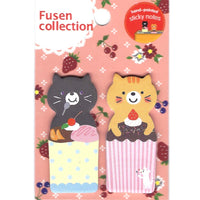 Kitty Cat and Cupcake Shaped Animal Memo Post-it Adhesive Bookmark Tab