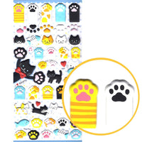 kitty-cat-animal-themed-paw-shaped-puffy-stickers-for-scrapbooking-and-decorating