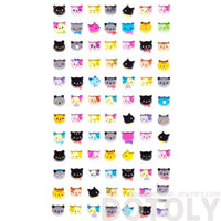 Kitty Cat Face Shaped Animal Spongy Stickers for Scrapbooking | DOTOLY