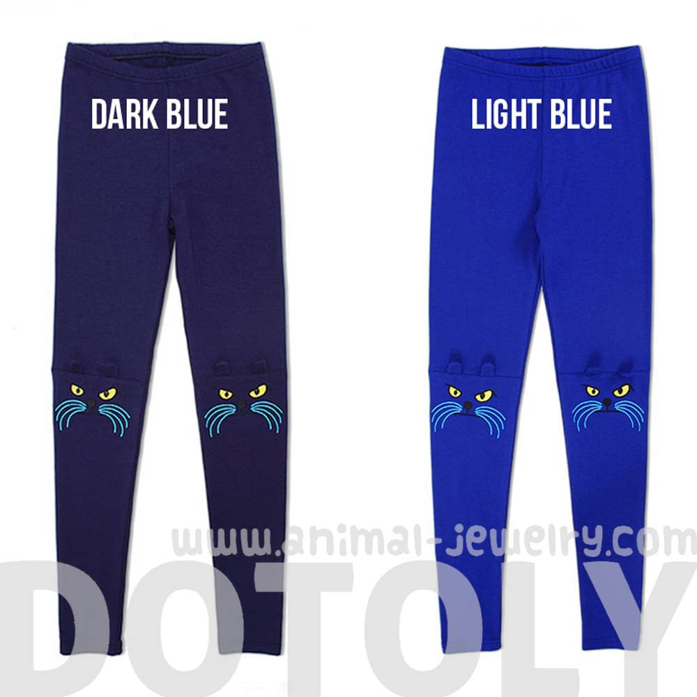 kitty-cat-knee-embroidered-detail-animal-themed-leggings-in-cobalt-blue