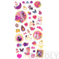 Kitty Cat Lace Floral Girly Princess Animal Shaped Scrapbook Stickers