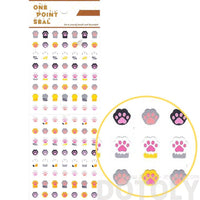 Kitty Cat Paw Print Shaped Animal Sticker Envelope Seal for Scrapbooking | DOTOLY
