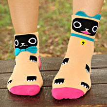 kitty-cat-shaped-animal-short-cotton-socks-for-women-in-apricot-orange-dotoly