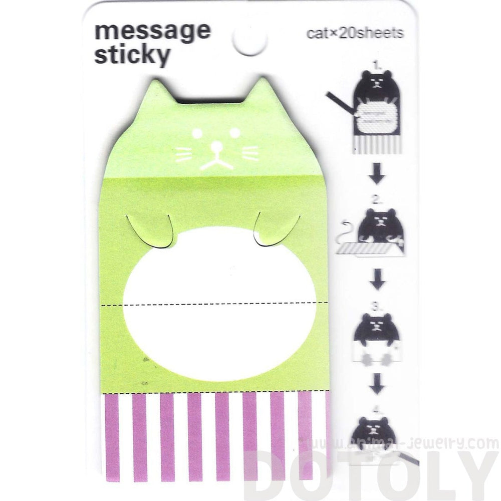 Cute Kitty Cat Animal Themed Adhesive Memo Message Post-it Letter Pad