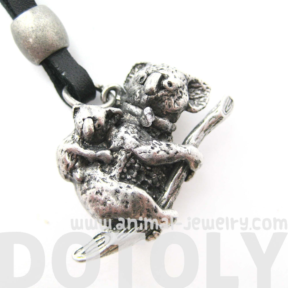 koala-bear-mother-and-baby-animal-pendant-necklace-in-silver
