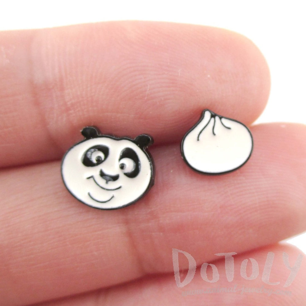 Kung Fu Panda Po Bear and Dumpling Stud Earrings | DOTOLY