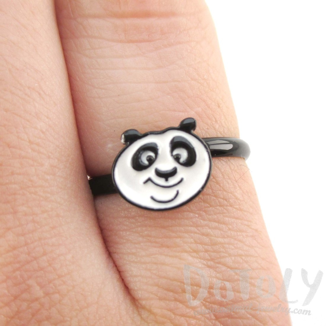 Kung Fu Panda Po Bear Shaped Adjustable Ring | DOTOLY