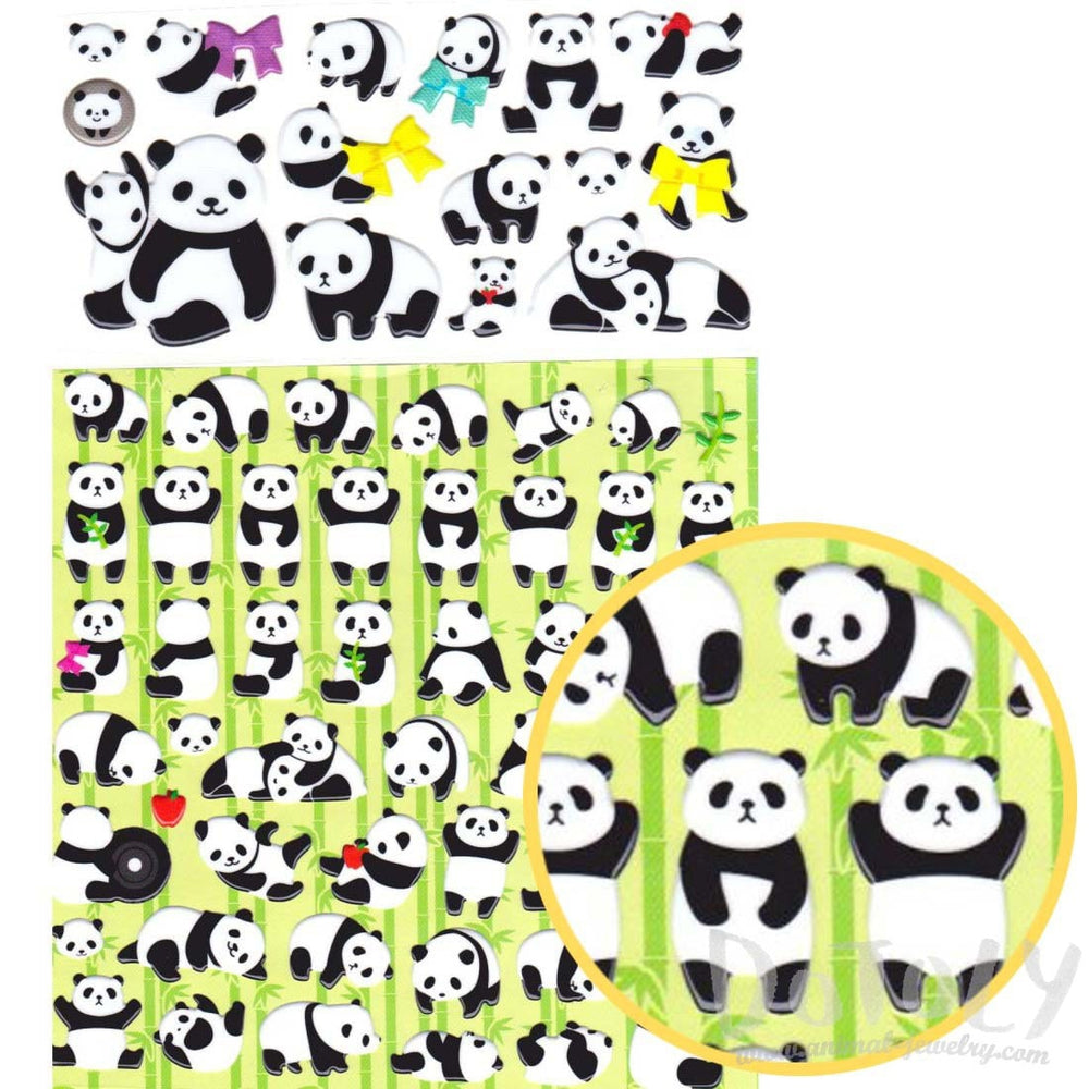 large-chubby-panda-bears-shaped-cartoon-stickers-2-sheets