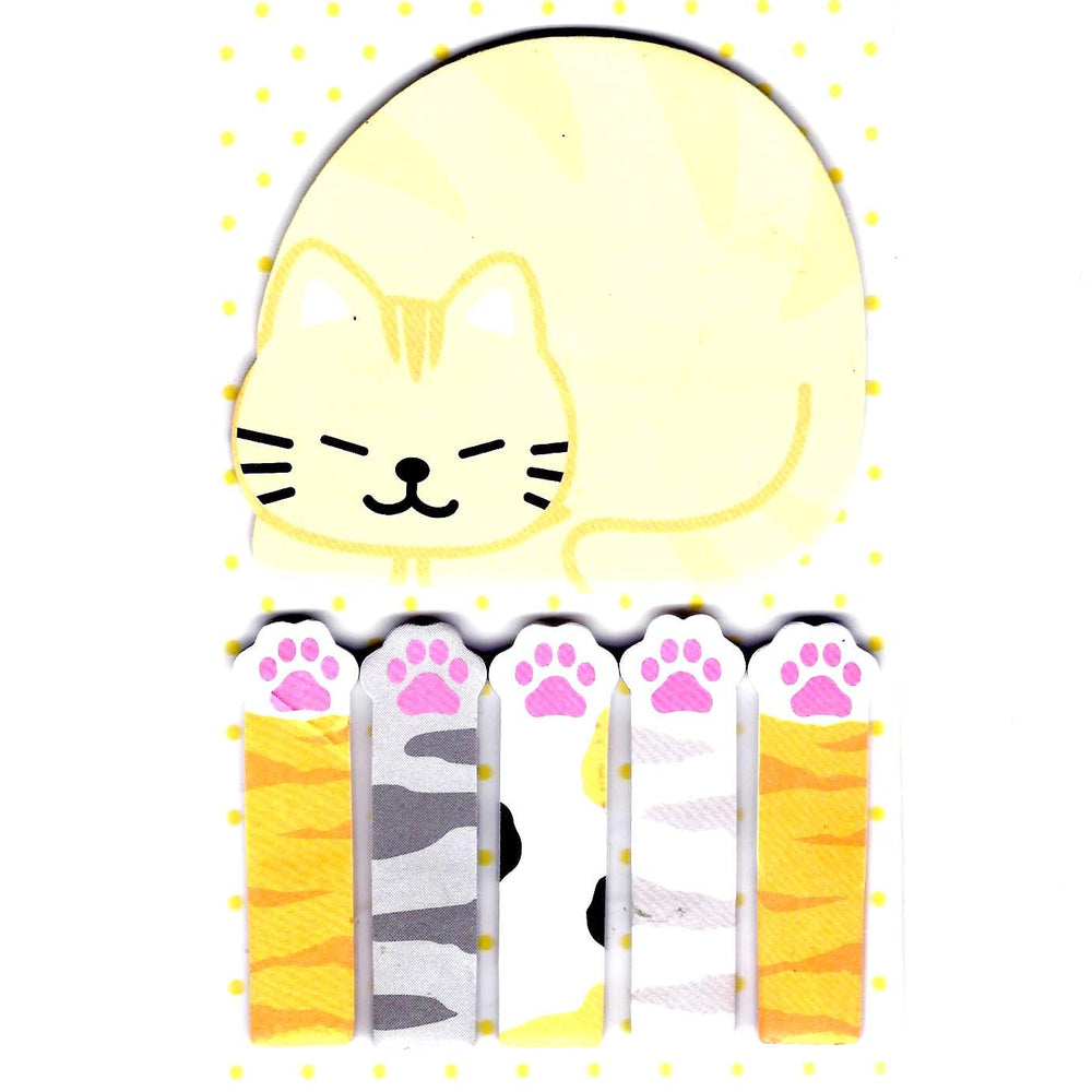 Large Kitty Cat Paw Animal Memo Post-it Index Sticky Pad Bookmark Tabs