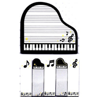 Music Themed Piano Treble Clef Note Memo Pad Post-it Index Sticky Tabs