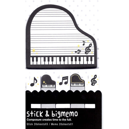 Piano piano tabs notes : Grand Piano and Music Notes Shaped Memo Post-it Sticky Index Tabs ...