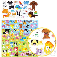 Animal Pets Themed Cat and Dog Shaped Cartoon Stickers