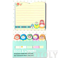 Matryoshka Russian Nesting Doll Shaped Memo Post-it Pad