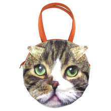 Large Tabby Cat Face Shaped Shoulder Bag for Cat Lovers