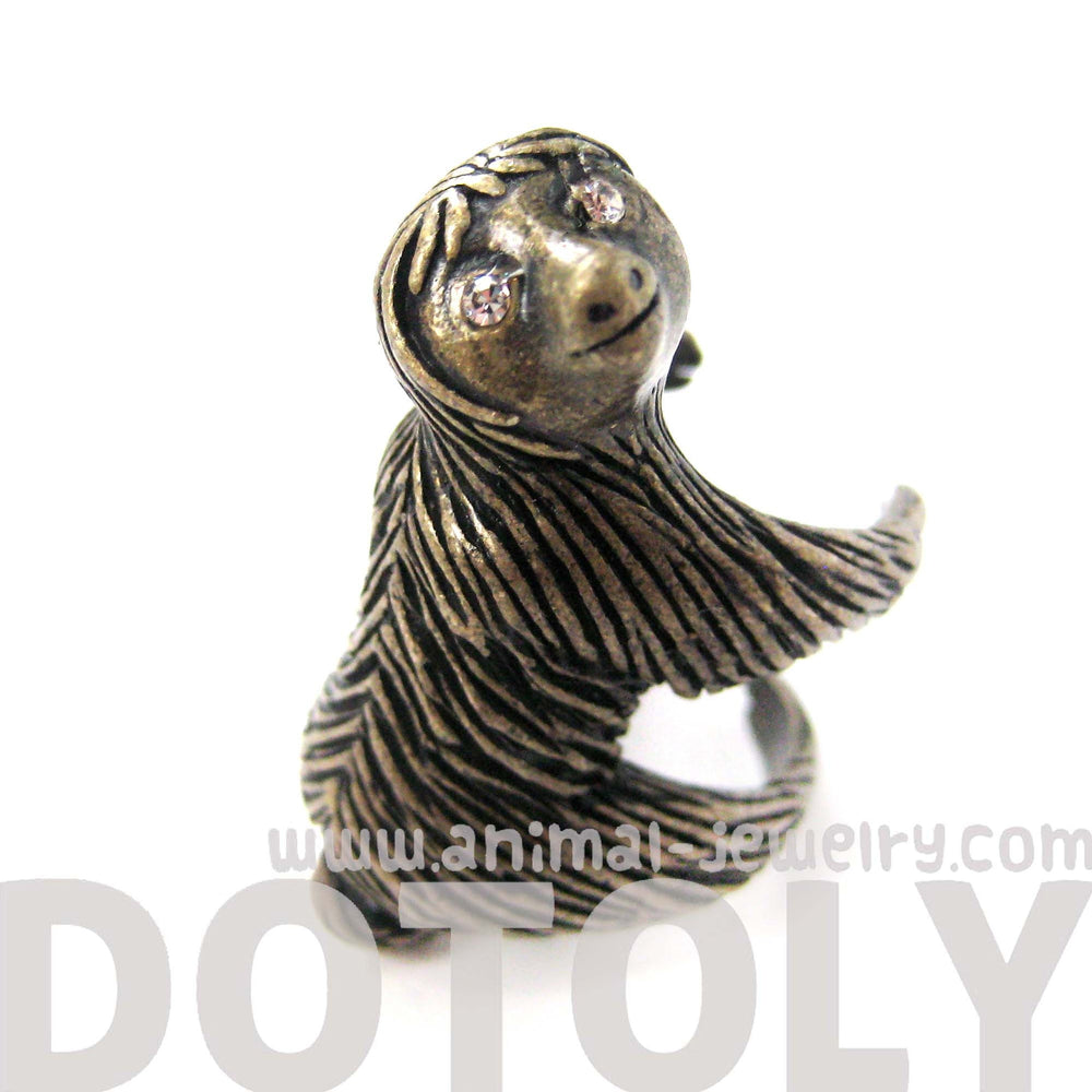 large-three-toed-sloth-shaped-animal-wrap-ring-in-brass-us-sizes-4-to-9