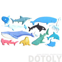 Large Whale Fish Stingray Shark Shaped Aquarium Themed Puffy Stickers
