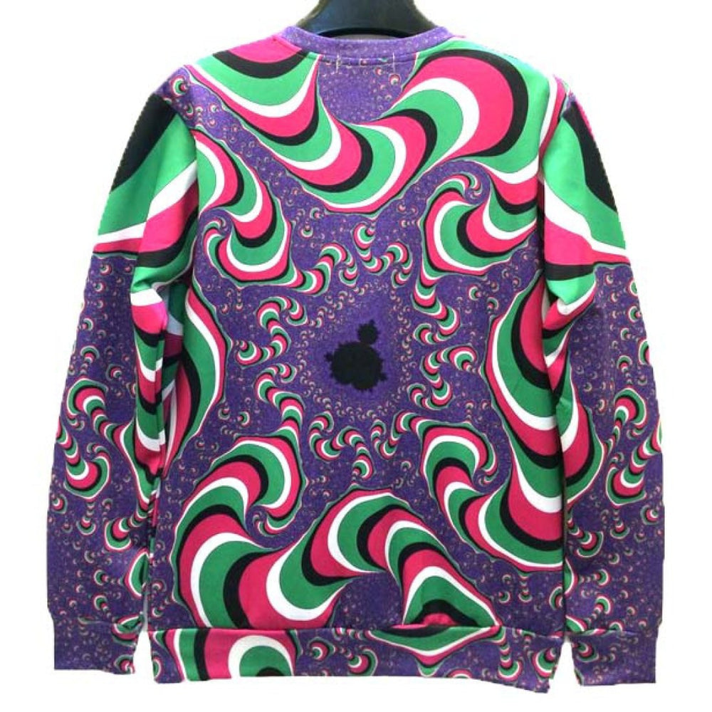 Laughing Pug Puppy Dog Psychedelic Trippy Graphic Print Unisex Sweater