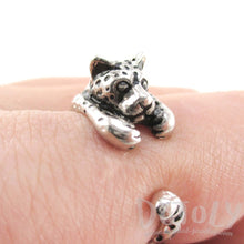 Leopard Shaped Animal Wrap Ring in 925 Sterling Silver