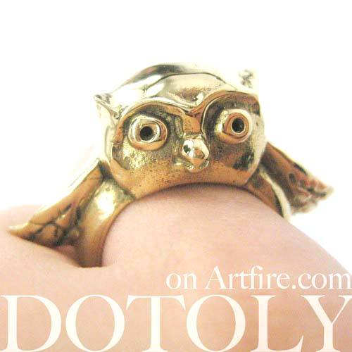 adorable-owl-bird-3d-animal-ring-in-brass