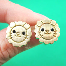 lion-shaped-adorable-animal-stud-earrings-in-gold-with-allergy-free-posts